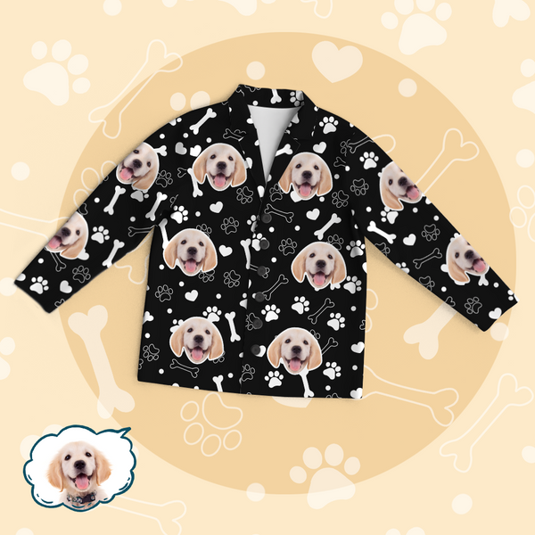 Personalized Pet Photo Pajama Tops/Pants - Dog Cute Face