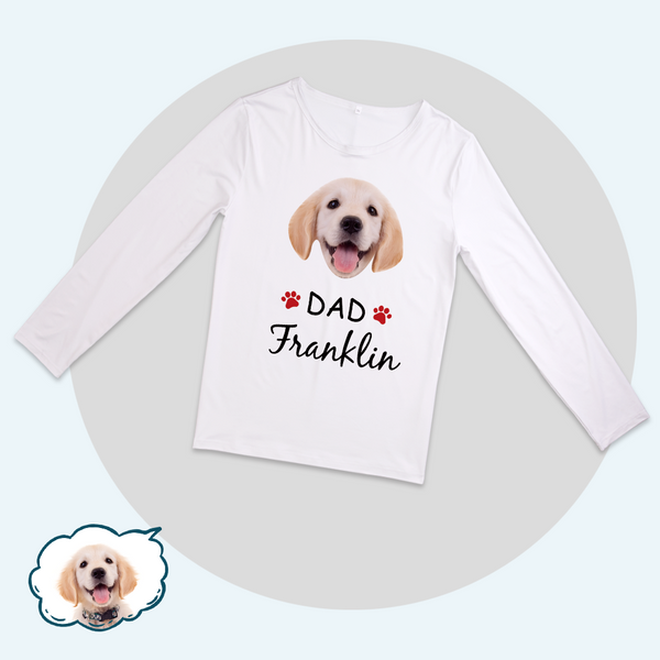 Custom Family Pajama Tops Add Photo And Name - Dog Face