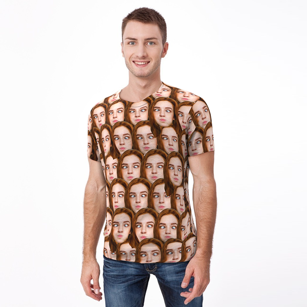 Custom Face Mash Man T-shirt - Customfacepajamas