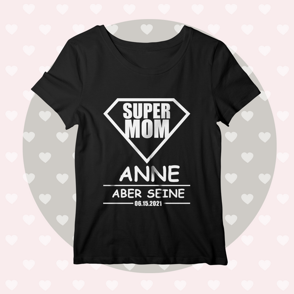 Custom Name And Date Black Shirt Women's Cotton T-shirt For Couples