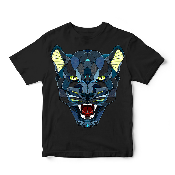 Comic Style Tiger Face T-Shirt For Men