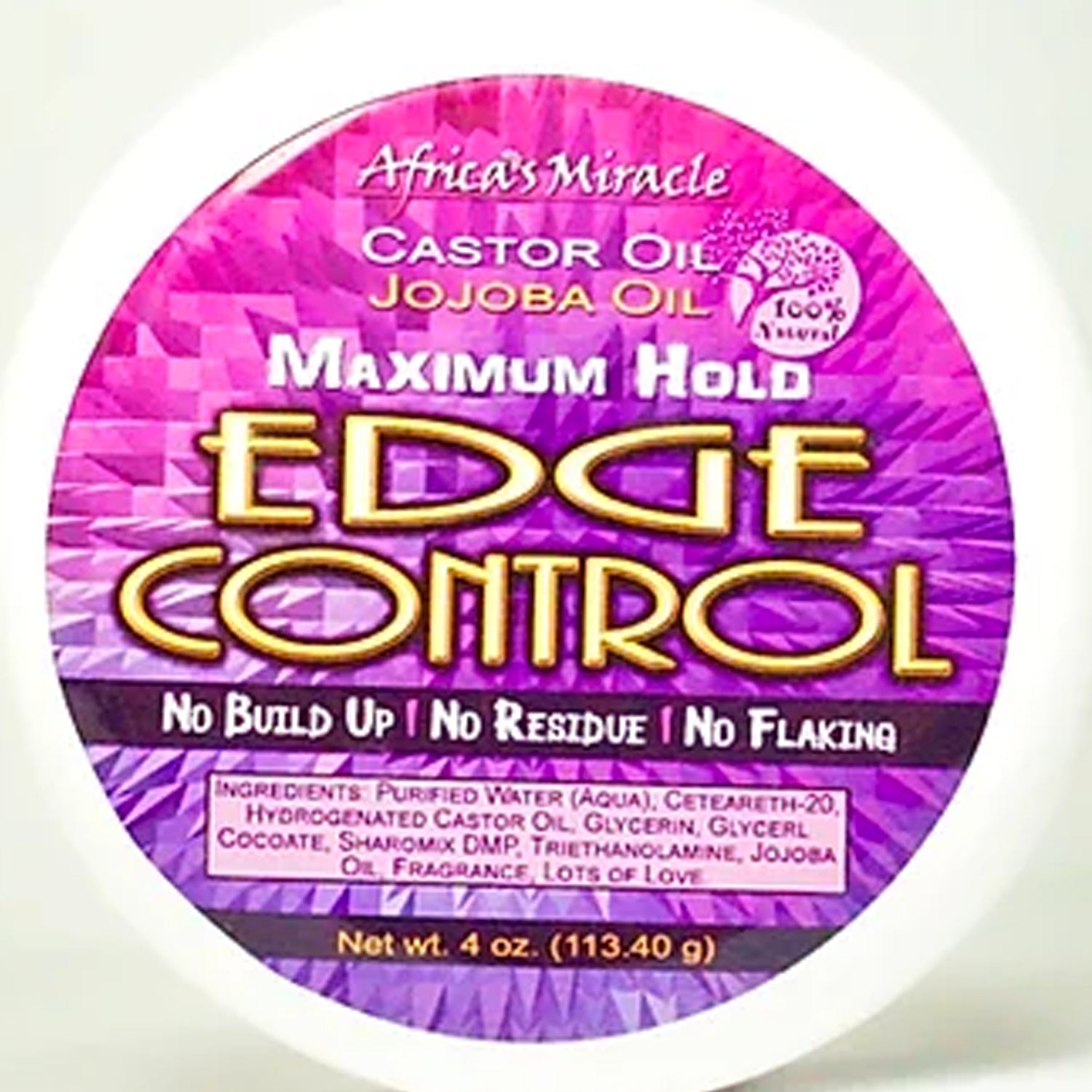 Castor & Jojoba Oil Edge Control 4oz