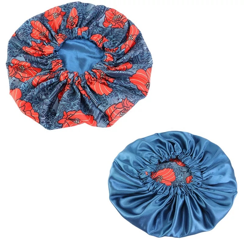 Large Ankara Satin Hair Bonnet