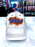 Wildcats Distressed Glitter Hat in White TM51