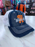 H Wildcats Dark Denim Distressed Glitter Hat TM53
