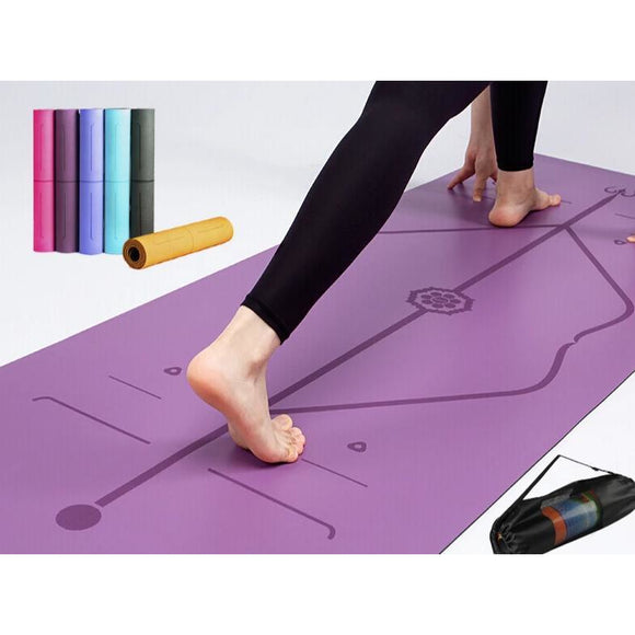 Double Layer Position Line Non-Slip Yoga Mat