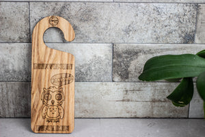 Personalized Wooden Door Hanger - Owl
