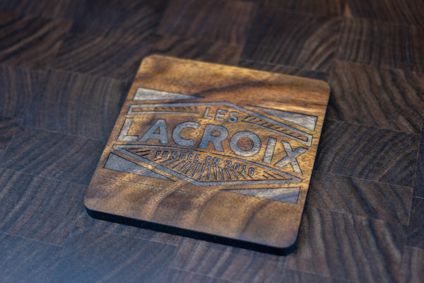 Personalized Wooden Coasters - Family Name - Retro 01