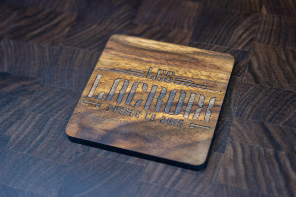 Personalized Wooden Coasters - Family Name - Retro 03