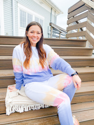 Sunset Tie Dye Crew Neck
