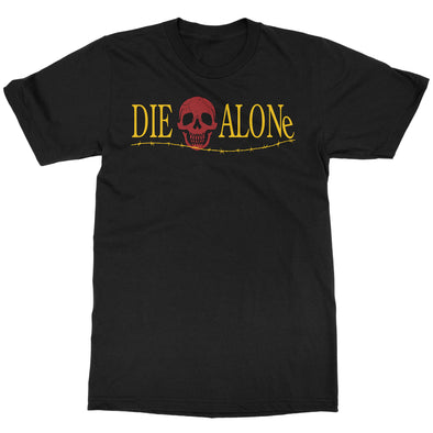 Die Alone Logo T-shirt. Funny horror t-shirt