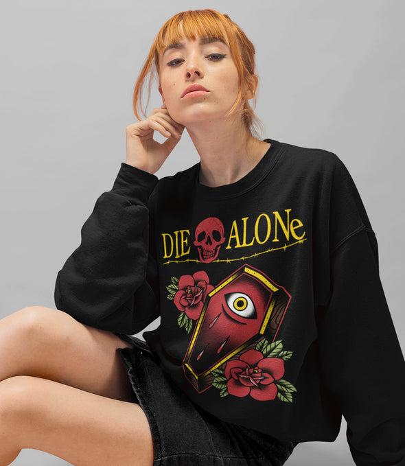 Women's tattoo clothing Die Alone tattoo long sleeve shirt