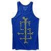 Sleep Terror Clothing Sleep Bones Tank Top | Blue goth unisex tank top featuring our initials ST made out of bones