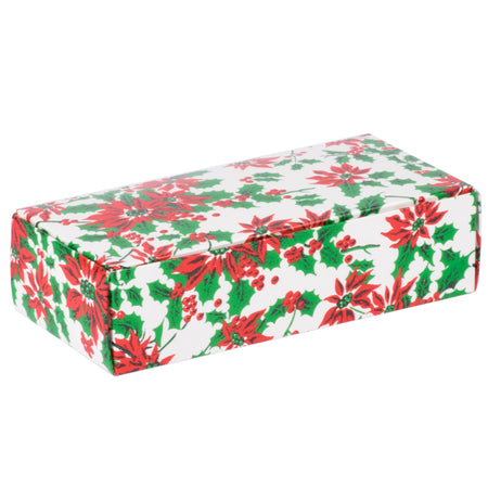 Poinsettia 1 lb. Candy Boxes Kit - 12 boxes, 12 pads & 12 gold loop ribbons