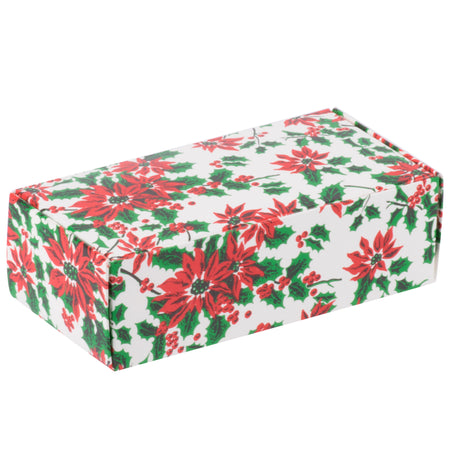 Poinsettia 1/2 lb. Candy Boxes Kit - 12 boxes, 12 pads & 12 gold loop ribbons