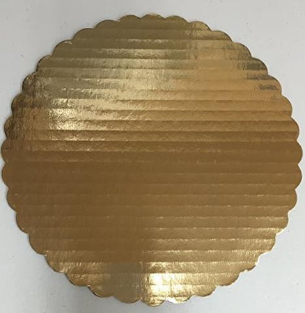 Gold Round Scalloped Cake Board