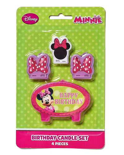Minnie Mouse Bowtique Birthday Candles, 4 ct