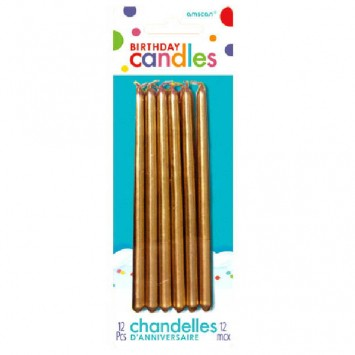 Gold Mini Taper Candles