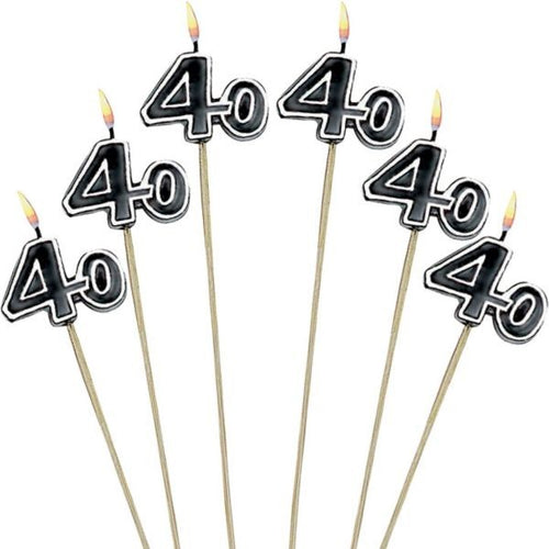 40th Birthday Stick Candles