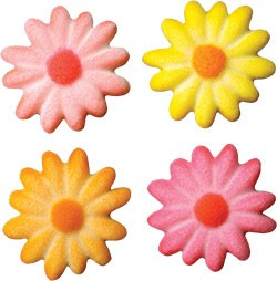 Daisies Medium Bright Assortment Sugar, 240 Pack