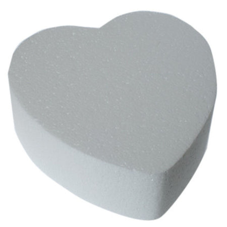 Heart Shaped Styrofoam Cake Dummy