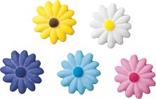 Daisies Sugars - Small Assorted Colors, 300 Pack