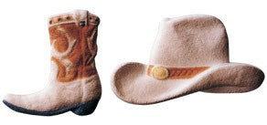 Cowboy Hat and Boot Assortment Sugars, 24 Pack