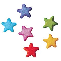 Rainbow Star Charm Sugars, 702 Pack