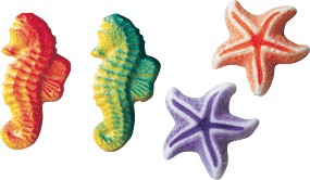 Sea Assortment Molded Sugars, 192 Pack