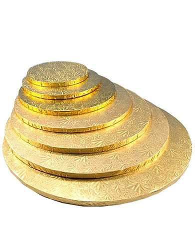 Round Gold Cake Drum Single Various sizes)