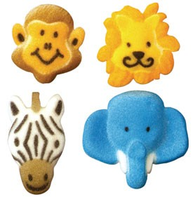 Jungle Animal Assortment Sugars, 128 Pack
