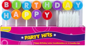 Happy Birthday Letter Candleholder Sets 2.5
