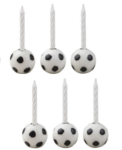 Soccer Candleholder Sets, 1 Set (6 candles)