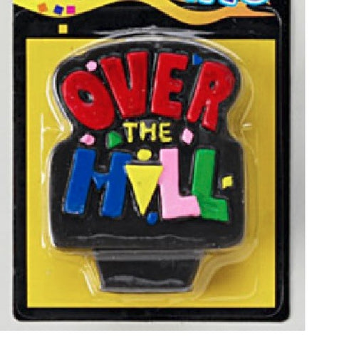 Over-The-Hill Plaque Candle, 3.25
