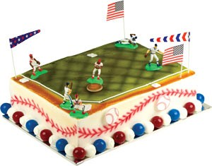Baseball Toppers Cake Kit