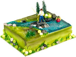 Gone Fishing Toppers Cake Kit