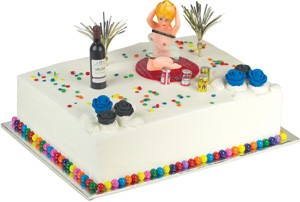 Bachelor Party Toppers Cake Kit