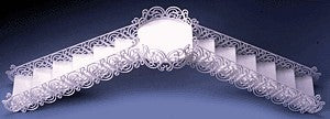 Wedding Filigree Bridge & Stair Set-White - 1 Set