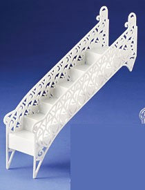 Wedding Heart Stairway - 6 Steps - White - 1 each