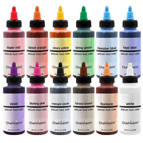 Chefmaster Airbrush Spray Food Colors - 9 oz.