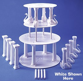 Bush Style - Swan Pillar Sets - 3 Complete Sets - Color: Ivory