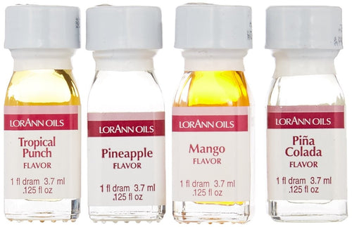 Lorann Super Strength Oils Tropical Flavors Pack - 4 piece set