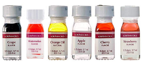 Lorann Super Strength Oils Fruity Flavors Pack 2 - 6 piece set