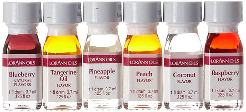 Lorann Super Strength Oils Fruity Flavors Pack 3 - 6 piece set