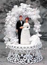 Wedding Cake Topper - E22 -  Mini Bride & Groom, 5