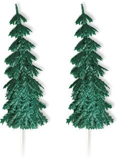"Extra Large Evergreen Fir Tree Picks 5-1/2"" - 12 Count or 48 Count"