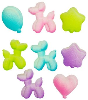 Balloon Animals Assorted Sugars - 120 Pack