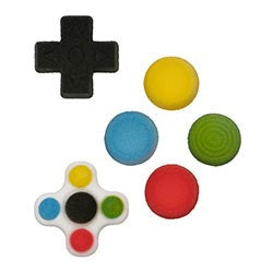 Gamer Button Assortment Sugars- 270 Pack