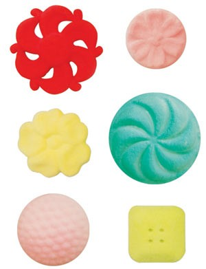 Vintage Buttons Assorted Sugars-  120 Pack