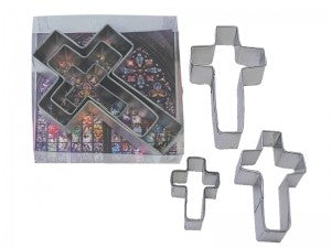 Cross shaped Cookie Cutter 3 Piece Bundle